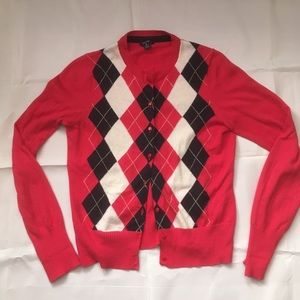 Nautica Sweaters - Nautica Argyle button front long sleeve cardigan.